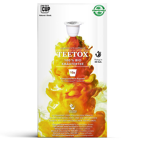 Nespresso® kompatible TeekapselnMY-TEACUP Teetox