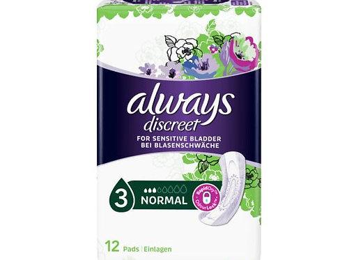 always Discreet Hygieneeinlagen Blasenschwäche Binden Normal, 12 St