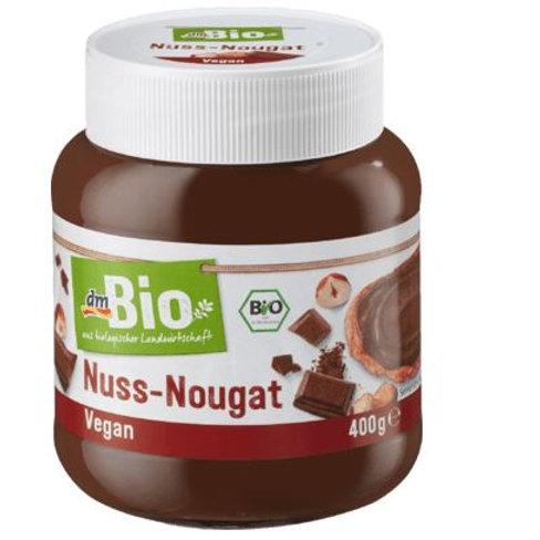 dmBio chocolate spread, nut nougat cream, 400 g gluten-free