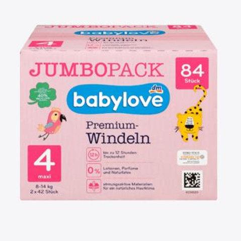 Babylove Premium-Windeln Gr. 4 Maxi 8-14 Kg 84 Stk.