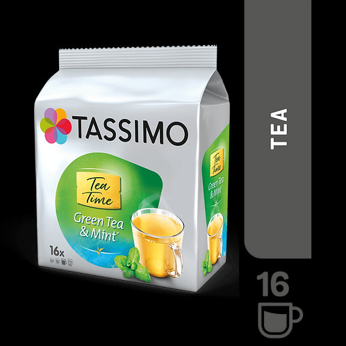 Jacobs Caffé Tea Time Green TEA and Mint System TASSIMO