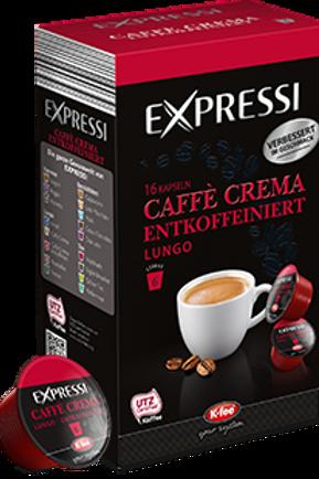 K-Fee Kapsel Expressi Lungo CAFÉ CREMA DECAFEINATO