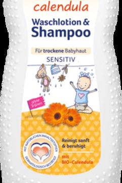 Bübchen Waschlotion & Shampoo Calendula, 230 ml
