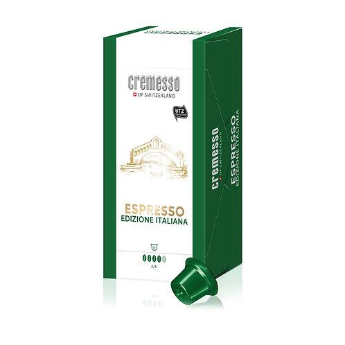 DELIZIO® kompatible Kapsel CREMESSO Edizione Italiana Espresso, 16 Kapseln 96 g