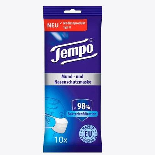Tempo Mundschutzmaske für Erwachsene, Einweg, 10 St