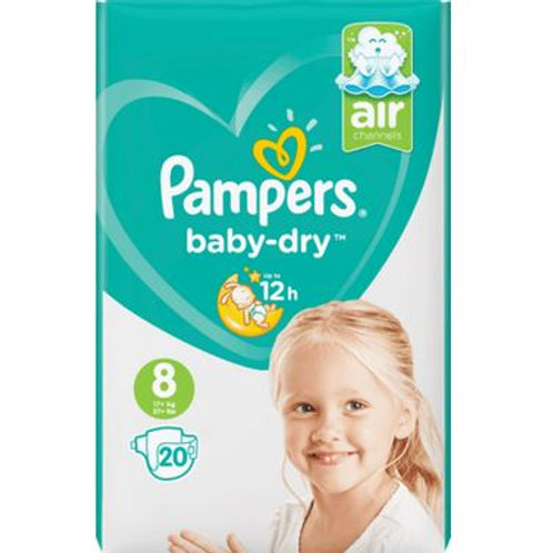 Pampers Baby Dry AIR Nummer 8 mit 20St. Inhalt