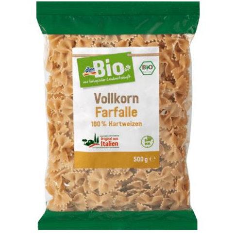 dmBio Nudeln, Farfalle aus Weizen, Vollkorn, 500 g