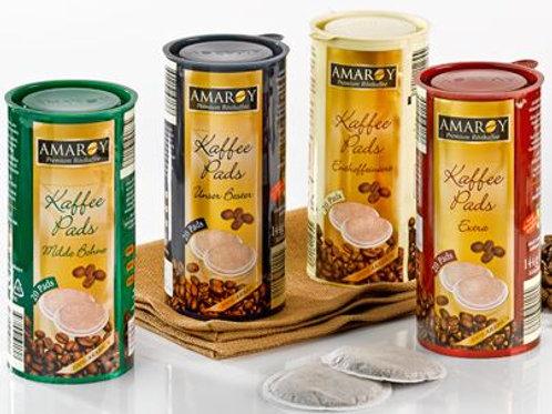 AMAROY Premium Röstkaffee PADS ENTKOFFEINIERT