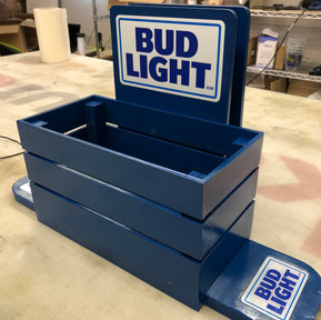 Bud Light condiment caddy