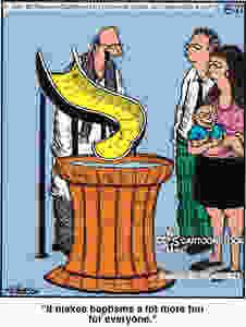 cartoon baptism