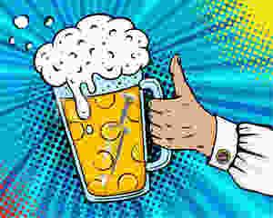 Syringe in beer glass