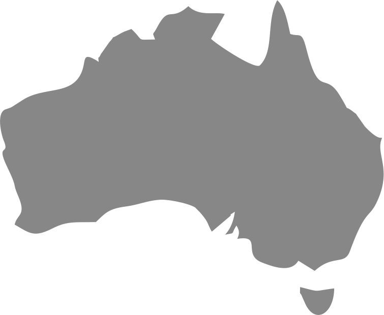 Australia from map