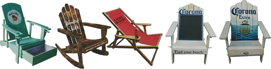 Chairs, POP, beer brading, brewery branding, brewers marketing