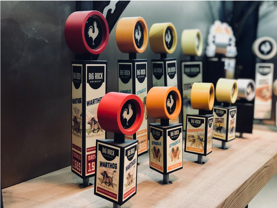 the best tap handles, big rock brewery, Wylie jack, cider, beer, craft beer, tap handle