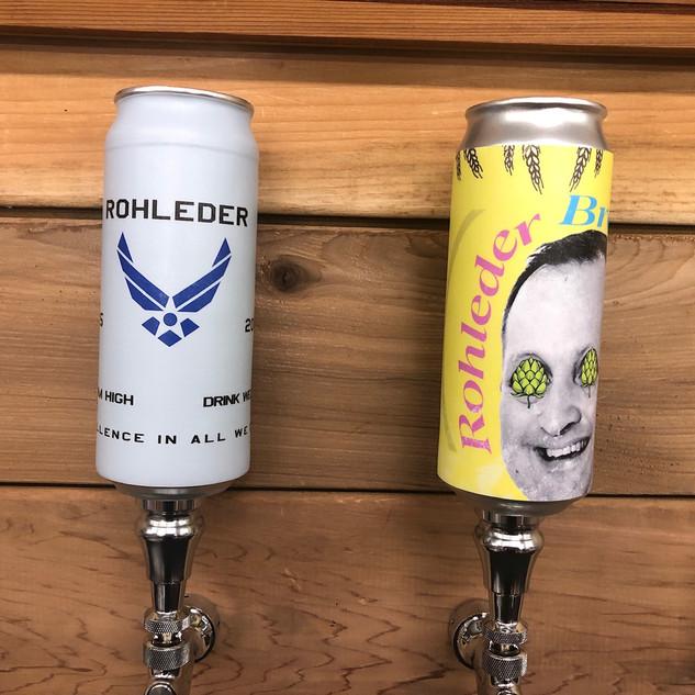 Custom can tap handles