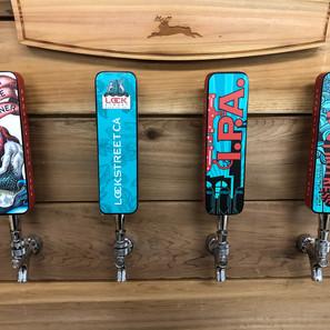 Lock Street Brewing Company tap handles