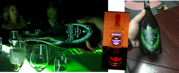 smirnoff branding, light up label, fluorescent label, POP, beer branding