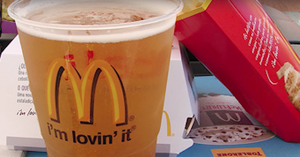 Mcdonalds, beer, France Macdonals