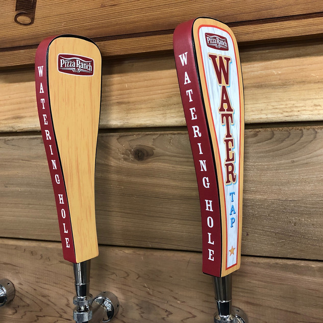 Pizza Ranch water tap handle