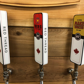 Red Thread Brewing tap handles