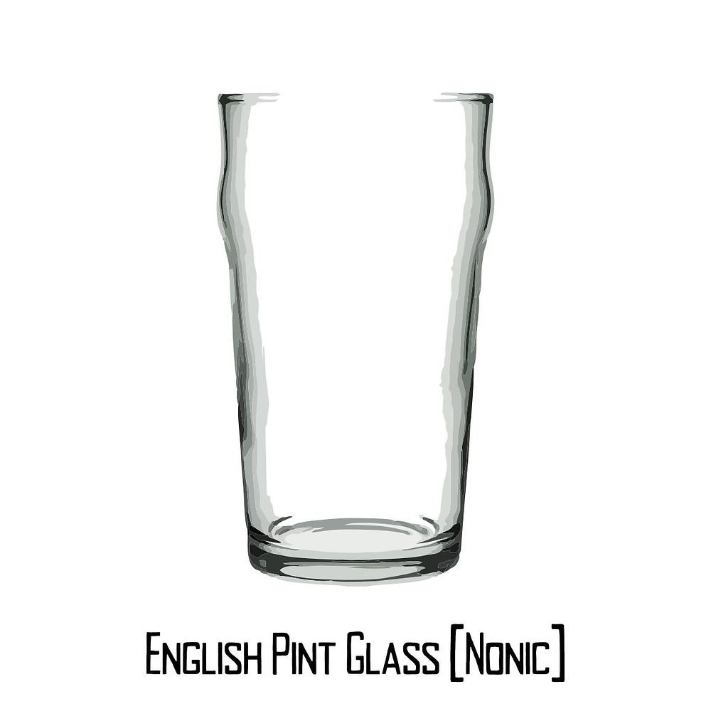 English Pint Glass Nonic