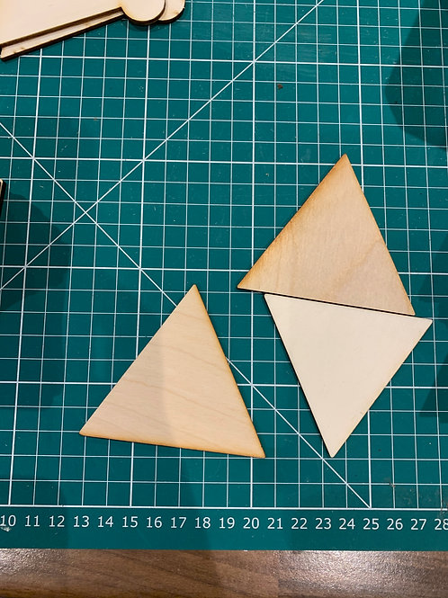 Wooden Equilateral Triangles