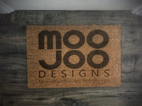 Personalised doormat with business logo