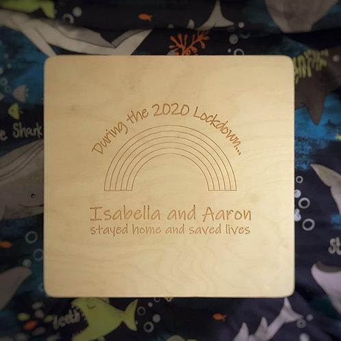Wooden Lockdown Memory Box