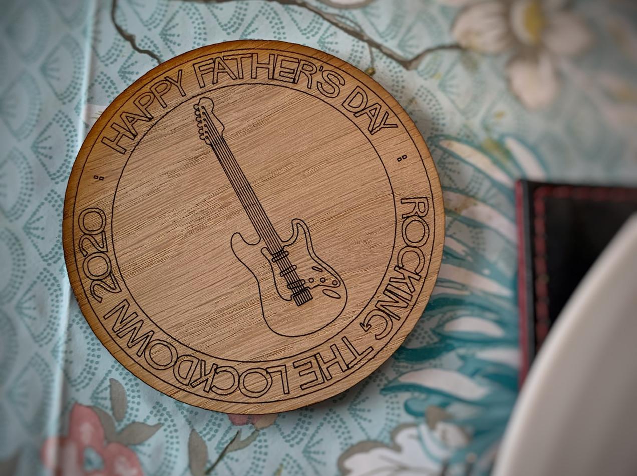 Circle Guitar Lockdown Coaster