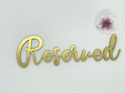 Reserved Sign, add ribbon to hang from chairs for the wedding party