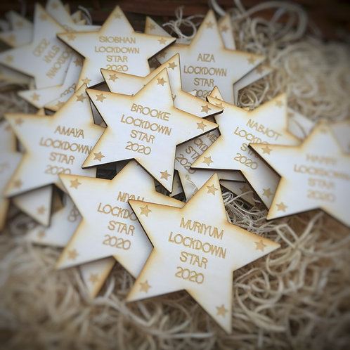 Lockdown Stars, available personalised with names