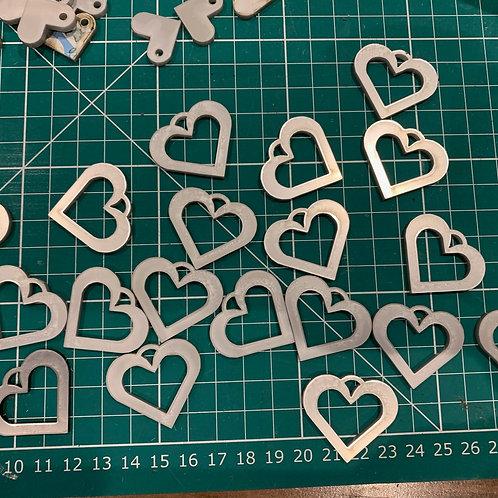 5 Acrylic Hearts