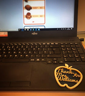 thank you teacher gift tag apple end of