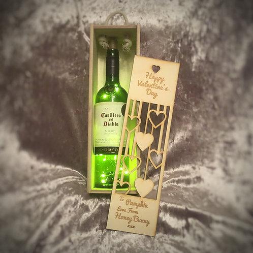 Valentine's Day or St Dwynwen's Day Wine Box