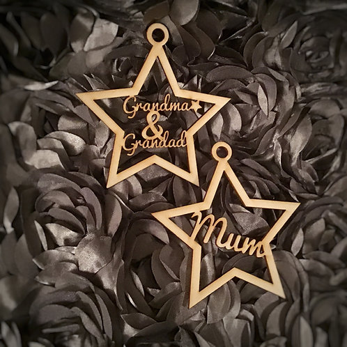 Personalised Christmas Baubles - Stars
