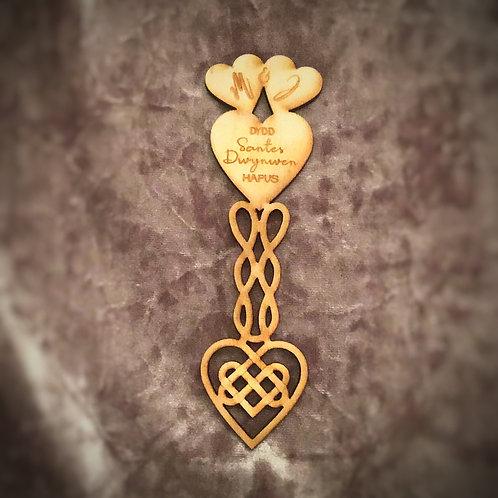 Welsh Love Spoon - St Dwynwen's Day, Valentine's Day or 5th Wedding Anniversary