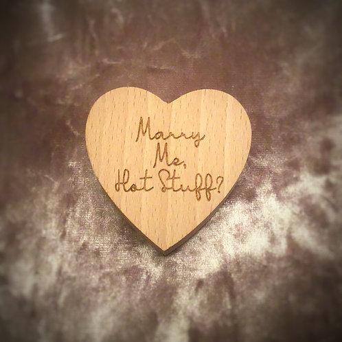 Romantic Personalised Ring Box
