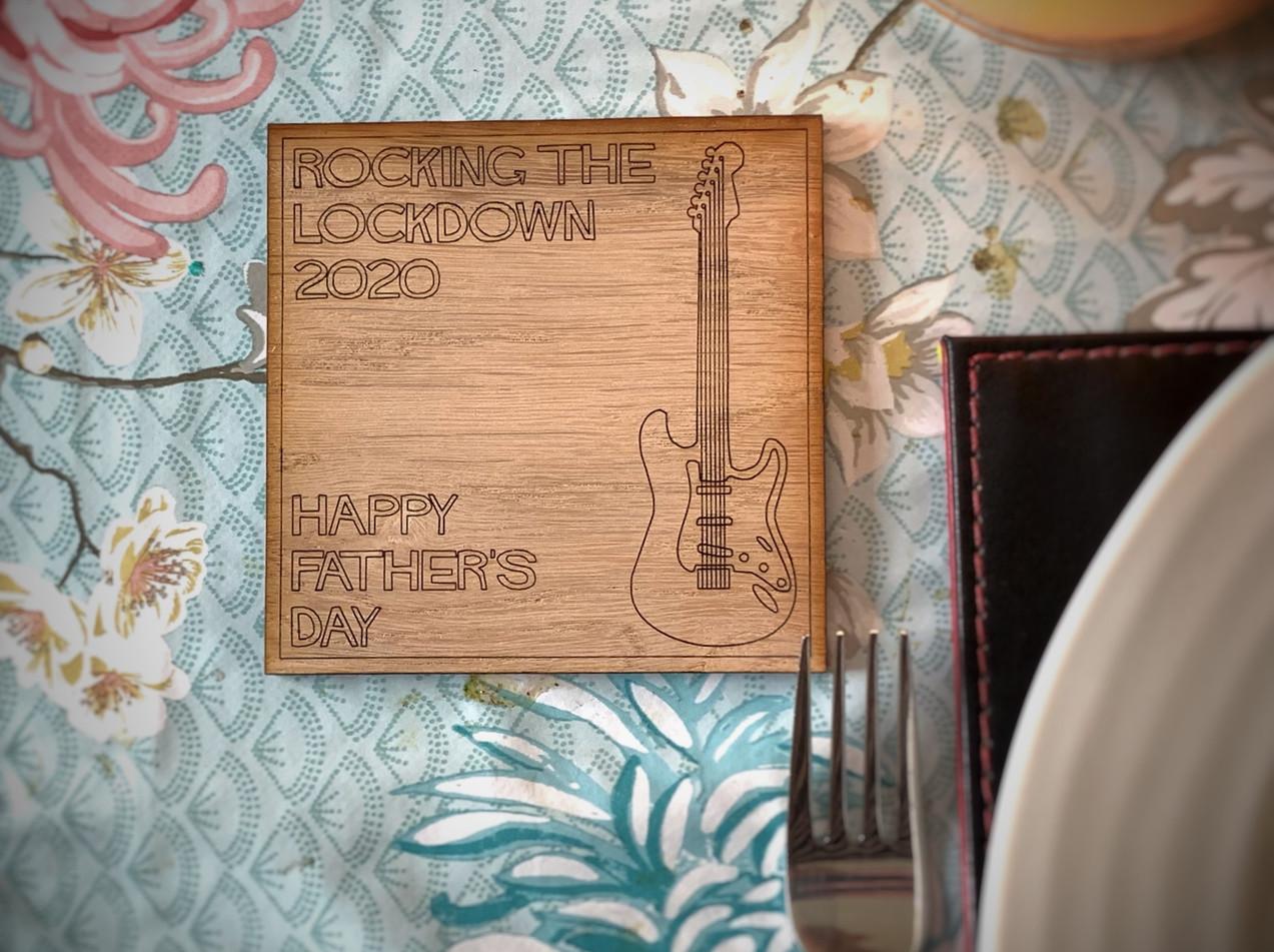 Square Guitar Lockdown Coaster
