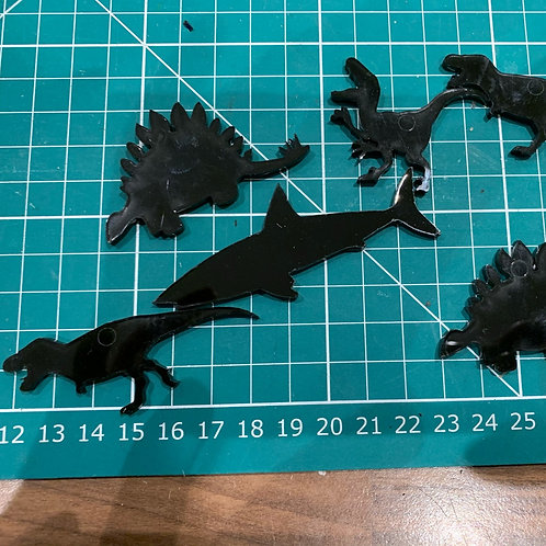5 Acrylic Dinosaurs (and shark!)