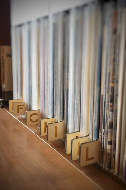 Wooden Record Dividers, A-Z