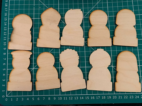 Wooden People Outlines