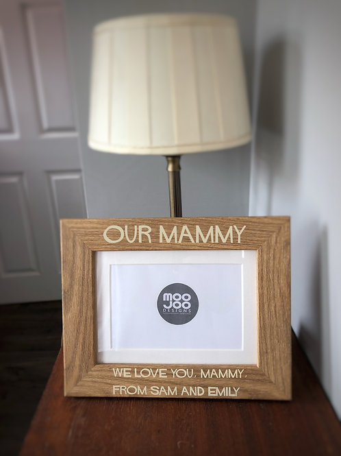 Mother's Day/Father's Day personalised photo frame