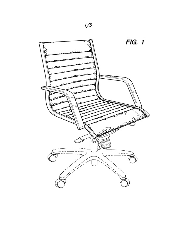 Manhattan Chair with Sloped Arms Drawing