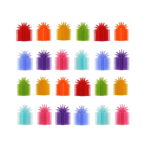 Spike Silicone Fidget Tactile Pencil Topper (Party Pack 24/Assorted Colors)