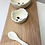 Thumbnail: Pinch & Wood White Spice Bowl Set with Spoon
