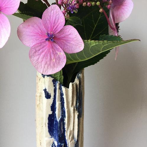 Blue & White Slim Vase