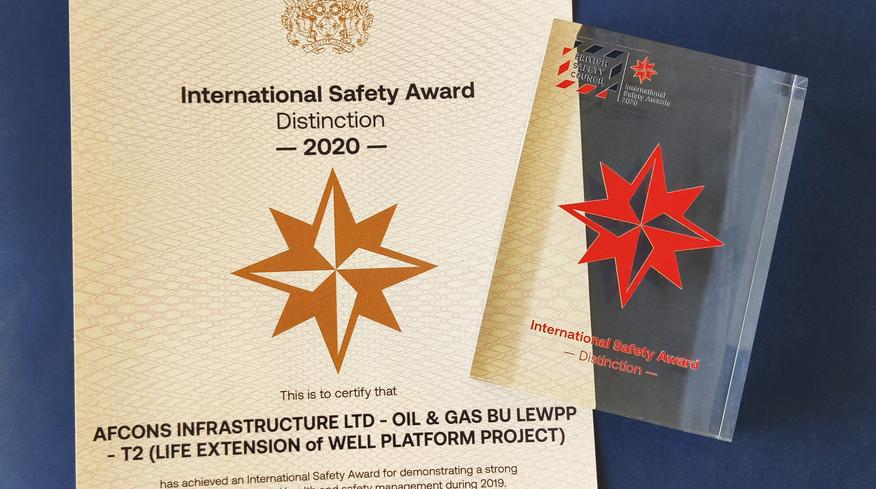 Britsafe ISA Trophy & Certificate