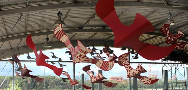 JSW Birds Installation
