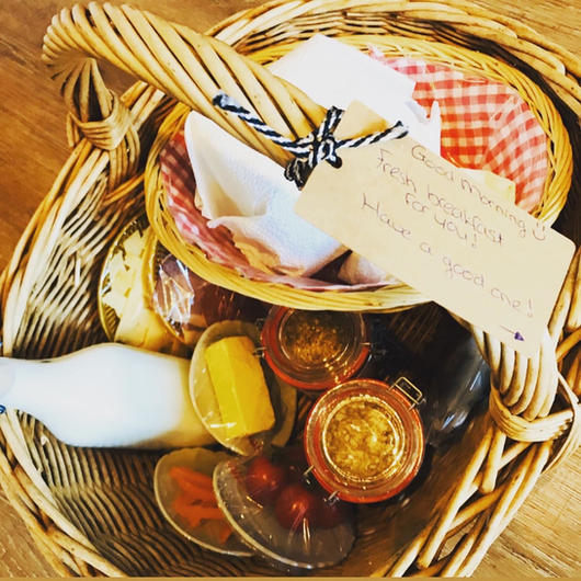 Home made breakfast basket