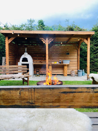Outside kitchen for cosy evenings